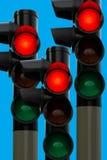 ljusröd trafik Royaltyfria Foton
