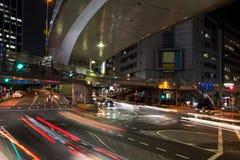 Ljusslingor i Shibuya på natten fotografering för bildbyråer