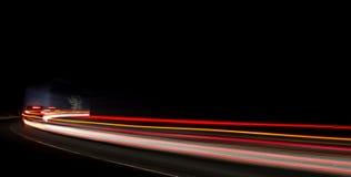 Ljusslingor i tunnel Royaltyfria Bilder