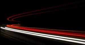 Ljusslingor i tunnel Arkivbilder