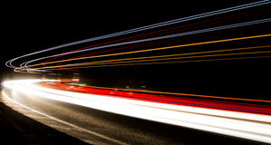 Ljusslingor i tunnel Royaltyfri Foto