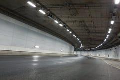 Ljusslingor i tunnel Royaltyfria Foton