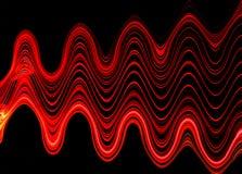 Ljusslingor i tunnel Fotografering för Bildbyråer