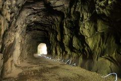 Ljusslingor i tunnel Royaltyfri Bild