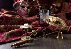Ljusstake- och karnevalmaskeringar Royaltyfri Foto
