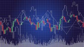 Ljusstakediagram i finansiell aktiemarknadvektorillustration Royaltyfri Bild