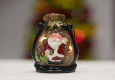 Ljusstakesouvenir med Santa Claus arkivbilder