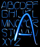 Ljust alfabet Royaltyfri Bild
