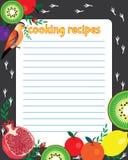 Ljust ark av papper för ett recept vektor illustrationer