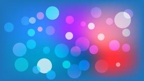 Ljust - bl? vektorbakgrund med cirklar Illustration med upps?ttningen av att skina f?rgrik gradering Modell f?r h?ften, broschyre vektor illustrationer