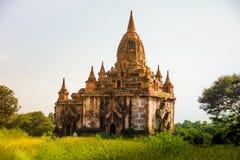 Ljust burma för Myanmar hedniskt kungarike för bagan tempel lopp Arkivfoto