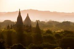 Ljust burma för Myanmar hedniskt kungarike för bagan tempel lopp Royaltyfria Bilder