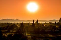 Ljust burma för Myanmar hedniskt kungarike för bagan tempel lopp Royaltyfri Bild