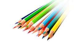 ljust färgade blyertspennor Arkivfoton