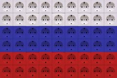 Ljust färgat elektriskt uttag för multiport arkivfoton