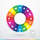 Ljust färgat hjul av förmögenhet Arkivbild