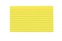 Ljust färgat tomt indexkort Arkivbilder