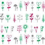 Ljust färgrikt kort med blommor Romantisk bakgrund för webbsidor, Vektor Illustrationer