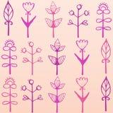 Ljust färgrikt kort med blommor Romantisk bakgrund för webbsidor som gifta sig inbjudningar, sparar datumkort Royaltyfria Bilder