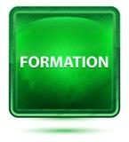 Ljust för bildandeneon - grön fyrkantknapp royaltyfri illustrationer