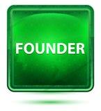 Ljust för grundareneon - grön fyrkantknapp vektor illustrationer