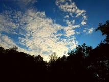 Ljust glöda för moln Royaltyfria Foton