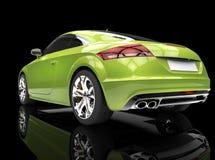 Ljust - grön kraftig bil på svart bakgrund Royaltyfria Bilder