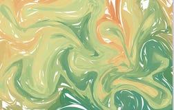 Ljust - grön vektormodell med krökta cirklar En elegant ljus illustration med lutning Splitterny design för dina annonser, stock illustrationer