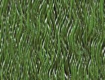 Ljust - grönt gräs med en snöbeläggning Royaltyfria Foton