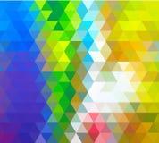 Ljust - grönt gult vektorabstrakt begrepp texturerade polygonal bakgrund Oskarp triangeldesign stock illustrationer