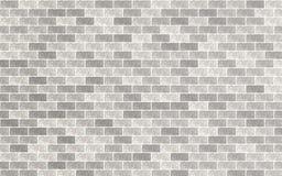 Ljust - gr?tt och vitt tegelstenmaterial texturerade retro v?ggbakgrund stock illustrationer