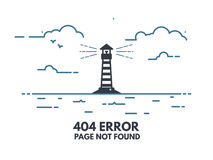 Ljust hus 404 vektor illustrationer