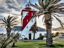 Ljust hus för grön punkt i Cape Town Royaltyfri Bild
