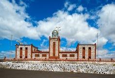Ljust hus i Fuerteventura arkivfoto