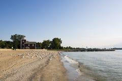 Ljust hus Luna Pier Michigan Arkivbilder