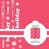 Ljust julhälsningkort, bakgrund, affisch i minimalist stil Vektorillustration för feriesamling arkivfoton