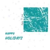 Ljust julhälsningkort, bakgrund, affisch i minimalist stil Vektorillustration för feriesamling royaltyfria bilder