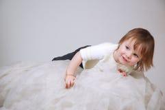 ljust ligga för barntyg som är trevligt Arkivfoto