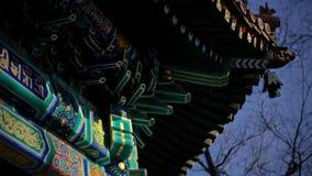 Ljust mönstrat tak av den buddistiska kloster Royaltyfria Foton