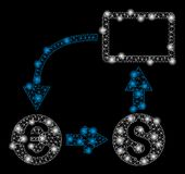 Ljust Mesh Wire Frame Cashflow Euro utbyte med pråliga fläckar royaltyfri illustrationer