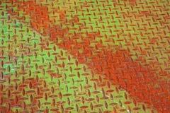 ljust metall målat rosta för panel Royaltyfri Fotografi