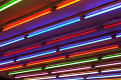 ljust neon Arkivbild