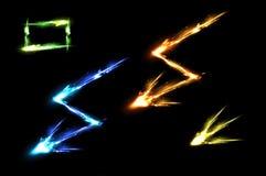 ljust neon för effekter vektor illustrationer
