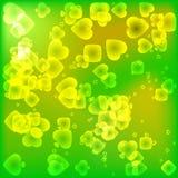 Ljust passar grön textur av kortet i en magisk ljus stil vektor illustrationer