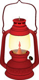 Gammal röd lampa royaltyfri illustrationer
