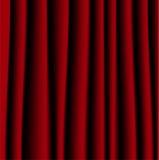 Ljust röd gardin, en bakgrund för design Arkivbilder