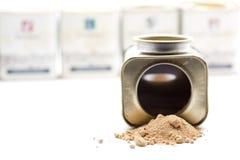 Ljust rödbrun ask för kryddor Arkivfoton