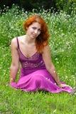 ljust rödbrun flickabarn Royaltyfria Foton