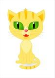 Ljust rödbrun kattungebild Arkivfoton