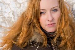 ljust rödbrun nätt kvinna Royaltyfria Bilder